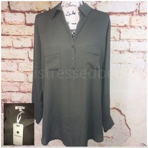 NORDSTROM PLEIONE | NWT | Army Green Sheer Blouse